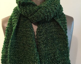 Kelly Green Knit Scarf, large