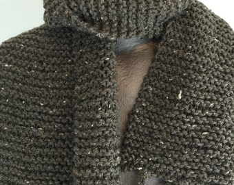 Light Brown Speckled Scarf with light Fringe