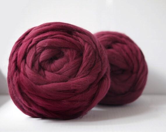 Set of 2 balls. Super thick hand-spun yarn.