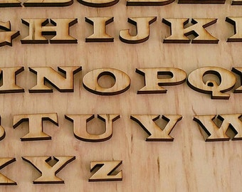 Choose your wooden letters