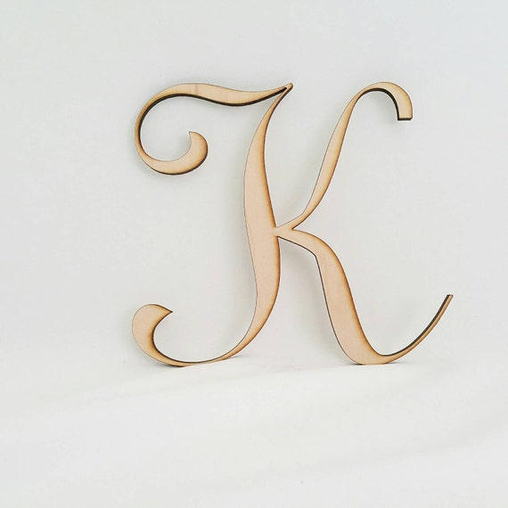 Wall Decor Letter K : Letter k cake topper wedding wall decor