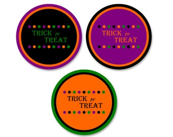 Halloween Printables, Instant Download Printable Halloween Tags, Halloween Favor Tags, Digital Halloween