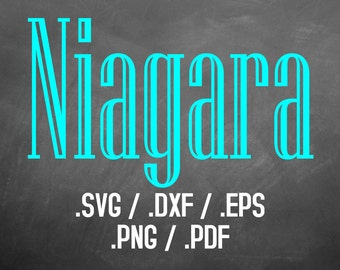 Niagara Font Design Files For Use With Your Silhouette Studio Software, DXF Files, SVG Font, EPS Files, Svg Fonts, Niagara Silhouette