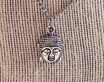 Buddha Head Pendant - Buddha Necklace  - Buddha Head Necklace Chain - Buddhist Pendant