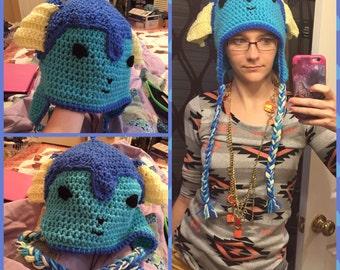 Eeveelution Earflap Crochet Hat