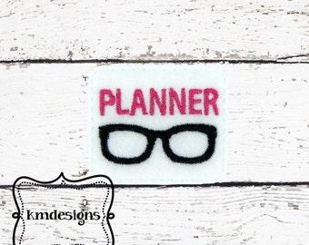 Planner NERD paper clip ITH Embroidery Feltie design file