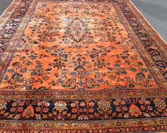 Antique Persian Mahal Circa 1920 Rug.