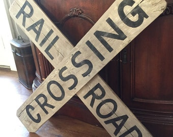 Railroad Crossing Sign, Railroad Sign, R R Sign, Wall Decor