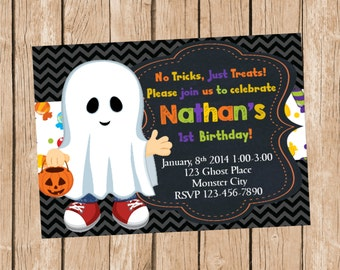 Boo Halloween Invitation