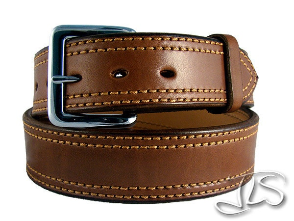gun belt brown leather conceal carry holster belt leo heavy