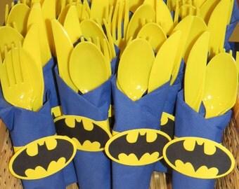Batman Silverware Wraps