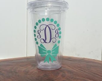 Personalized Tumbler with Bow