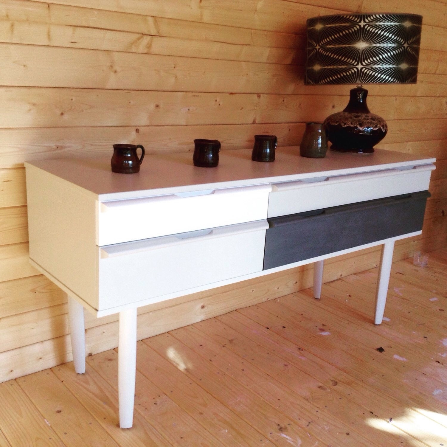 sold vintage retro sideboard hand painted in farrow and ball. Black Bedroom Furniture Sets. Home Design Ideas