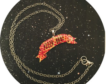 Pizza Babe Banner Necklace