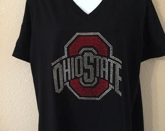 Ohio State Rhinestone T-Shirt
