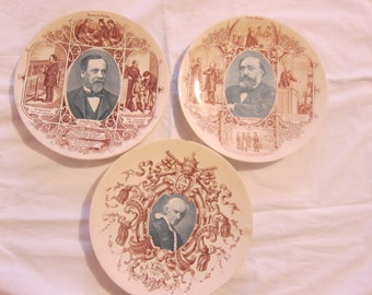 1800 antique old plates