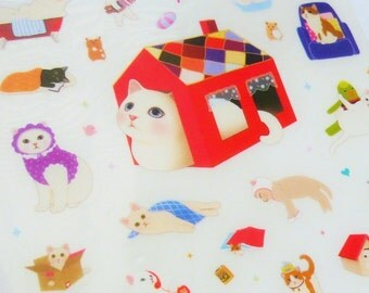 Cute Kitty Stickers (4 sheets)
