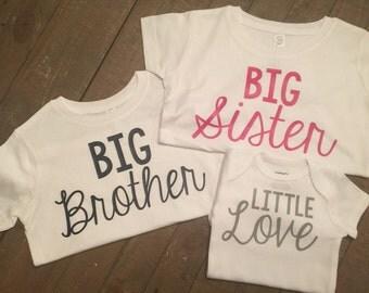 Big Brother Big Sister Little Love Shirt Set