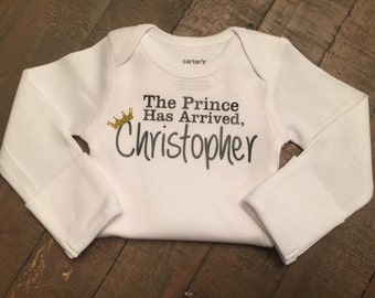 The Prince Has Arrived Personalized Body Suit