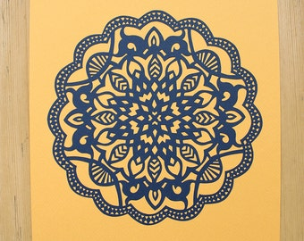Mandala Islamic Papercut Template Papercutting Geometric Moroccan Art Mehndi PERSONAL USE