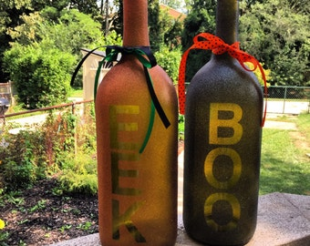 Halloween Wine Bottle Decor