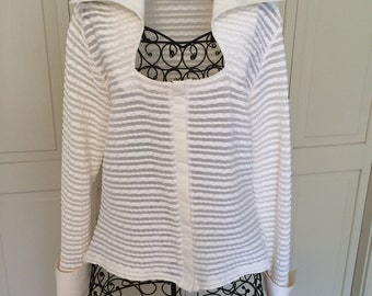 Ivory French Cuff Blouse by Rayure Paris, size 46