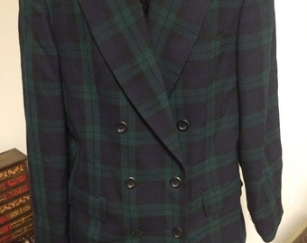 Brooks Brothers Green Plaid Blazer, Size 14