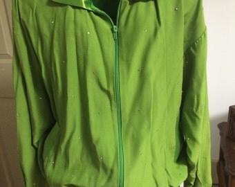Vital Elements of New York Green Rhinestone Jacket, size S