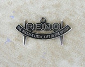 Reno Nevada City Sign Gambling Sterling Silver Travel Bracelet Charm