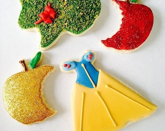 Snow White Decorated Cookies