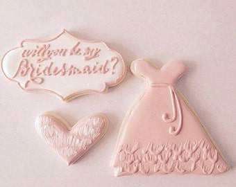 Will you be my bridesmaids cookie set