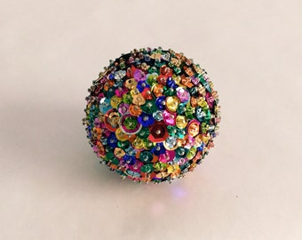 The Party Ball - Handcrafted Sequined & Beaded Decorative Ornament