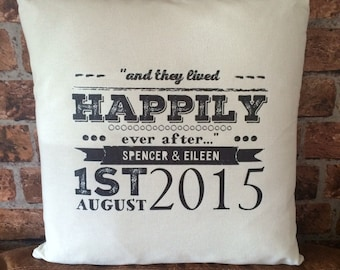 Personalised song Lyric cushion/pillow The perfect Wedding, Anniversary or Engagement Gift!