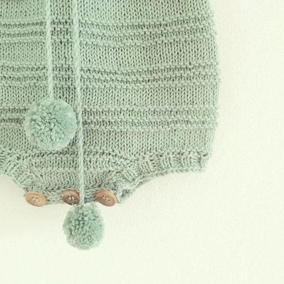Billie baby Romper Suit - Knitting Pattern from STRIKDET on Etsy Studio