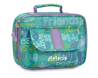 "Personalized Bixbee ""Hope Peace Love"" Classic Insulated Lunchbox"