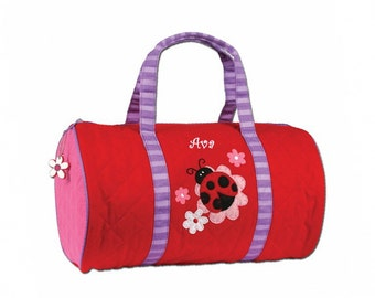 Personalized Quilted Ladybug Duffel Bag