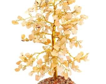 Natural Citrine Crystal Stones Chips Gemstones Crystal Tree Gift