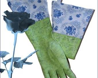 Spring 2016. exclusive gardening gloves with a fabric cuff lining traditional, Bavarian peasant of nadelÖhr25 Bay. Forest.