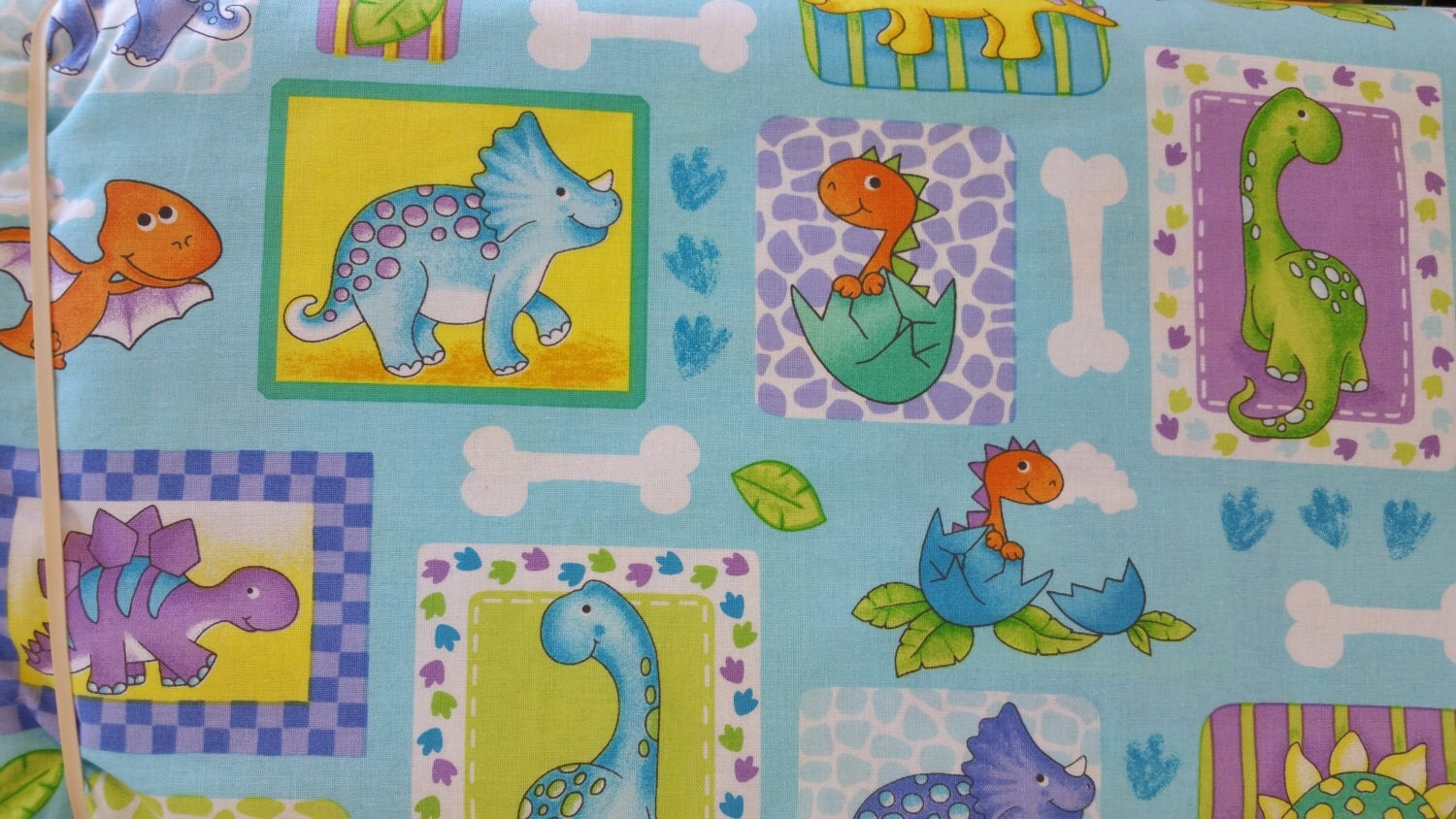 Dino world turquoise fabric kids fabric juvenile fabric for Children of the world fabric