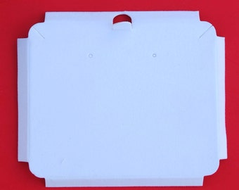 White Velour-Flocked Cardboard Jewelry Bracelet Box Insert NEW - Lot of 50