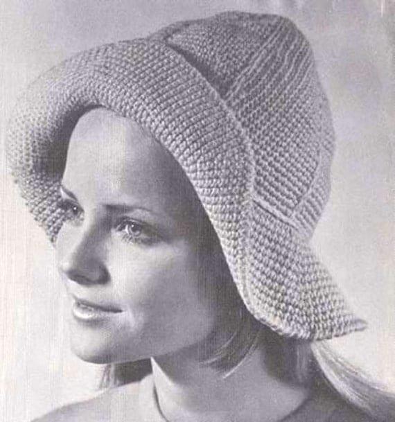 PDF Crochet Souwester Floppy Hat Pattern Instant by Moongemini