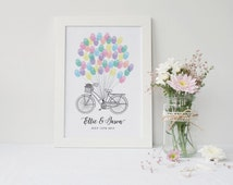 Alternative Guest Book- Bicycle Print