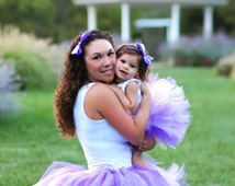 Mommy and Me Tutu, Purple Tutu Set, Purple Mommy and Me Tutu set, Mommy and Me Outfit, Mommy and Me