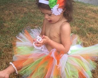 Orange Cake Smash Outfit - Orange Cake Smash Set - Baby Girl Tutu Outfit - Orang Smash Cake Set - Baby Tutu - Baby Girl 1st