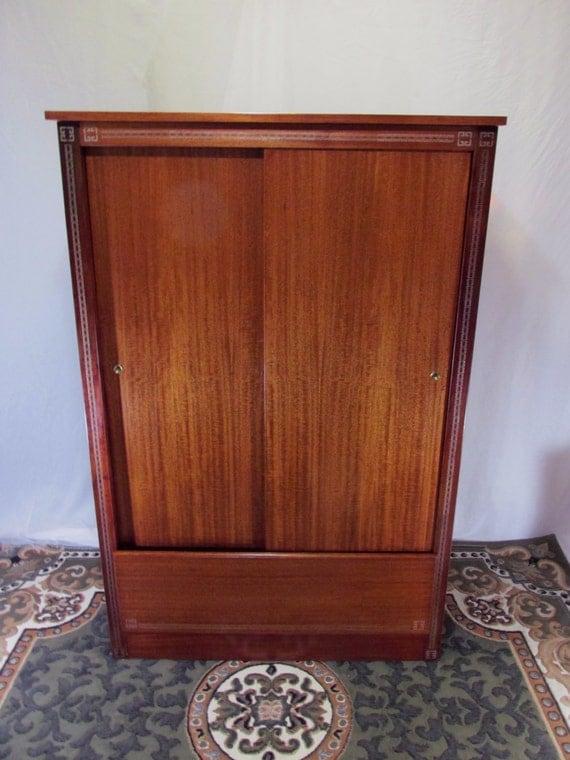 Restored Vintage Mahogany Wardrobe Cedar Lined