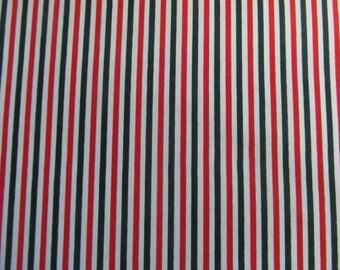 Christmas Candy Striped Polycotton Dress/Craft Fabric …