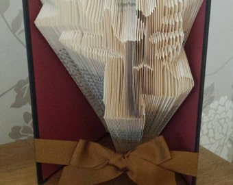 Rudolph folded book,Christmas book fold, Christmas folded book,book art, Reindeer folded book,Reindeer book fold