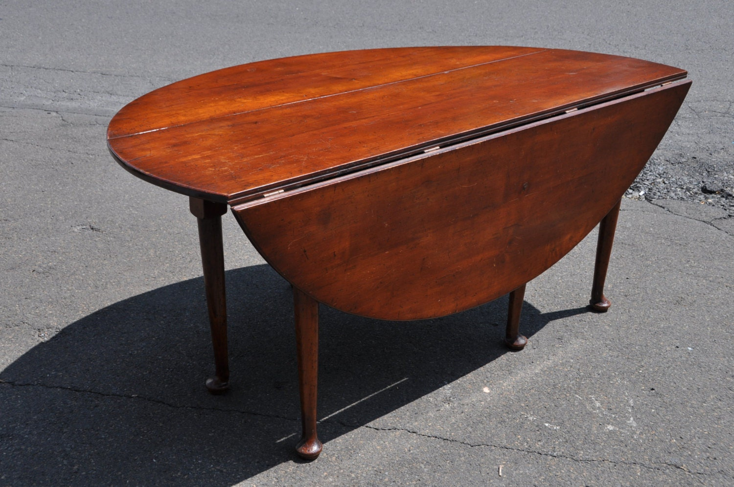 Reproduction English George III Style Mahogany Drop Leaf Dining Table Haute