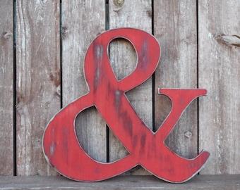 Ampersand - Hand cut -Wall Art - Wall Decor - Rustic