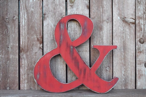 Ampersand hand cut wall art wall decor rustic for Ampersand decoration etsy